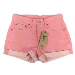 Levi's 501 Mid-Rise Button Fly Denim Jean Shorts